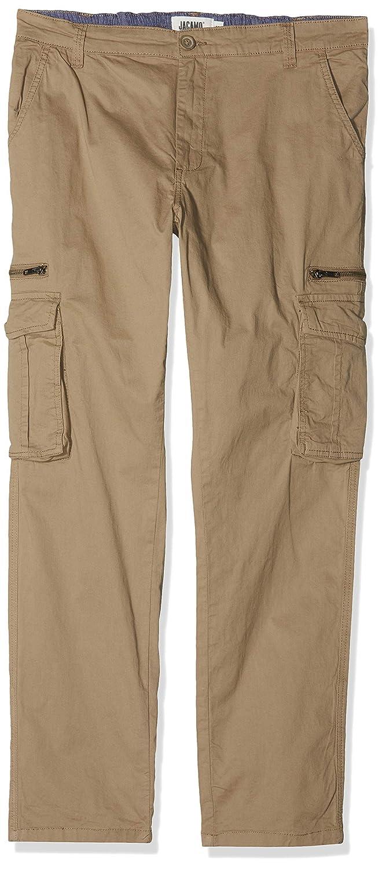 TALLA XXXX-Large (Talla del fabricante: 48). Jacamo Zip Detail Tapered Fit Cargo, Pantalones para Hombre