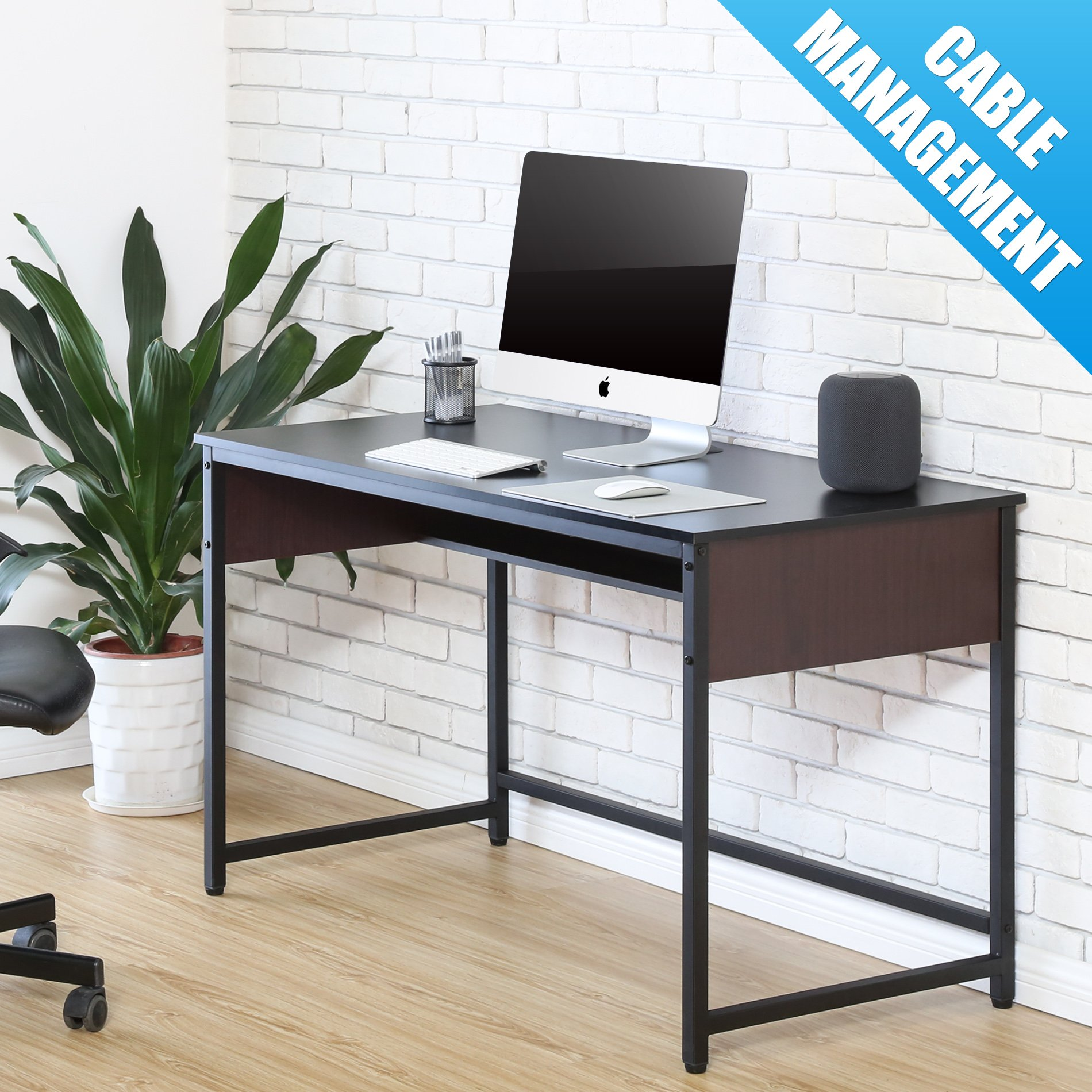FITUEYES Computer Desk, Laptop Table,Large Office Desk Study Writing Desk for Home Office,CD212001WB