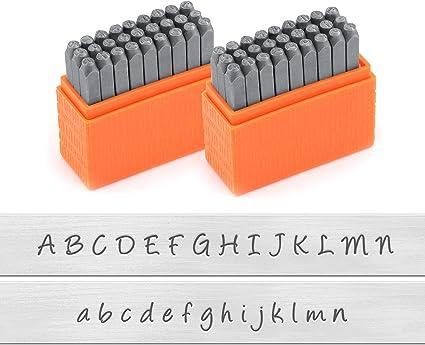 Basic Bridgette Uppercase and Lowercase Letter Metal Stamp Set ImpressArt
