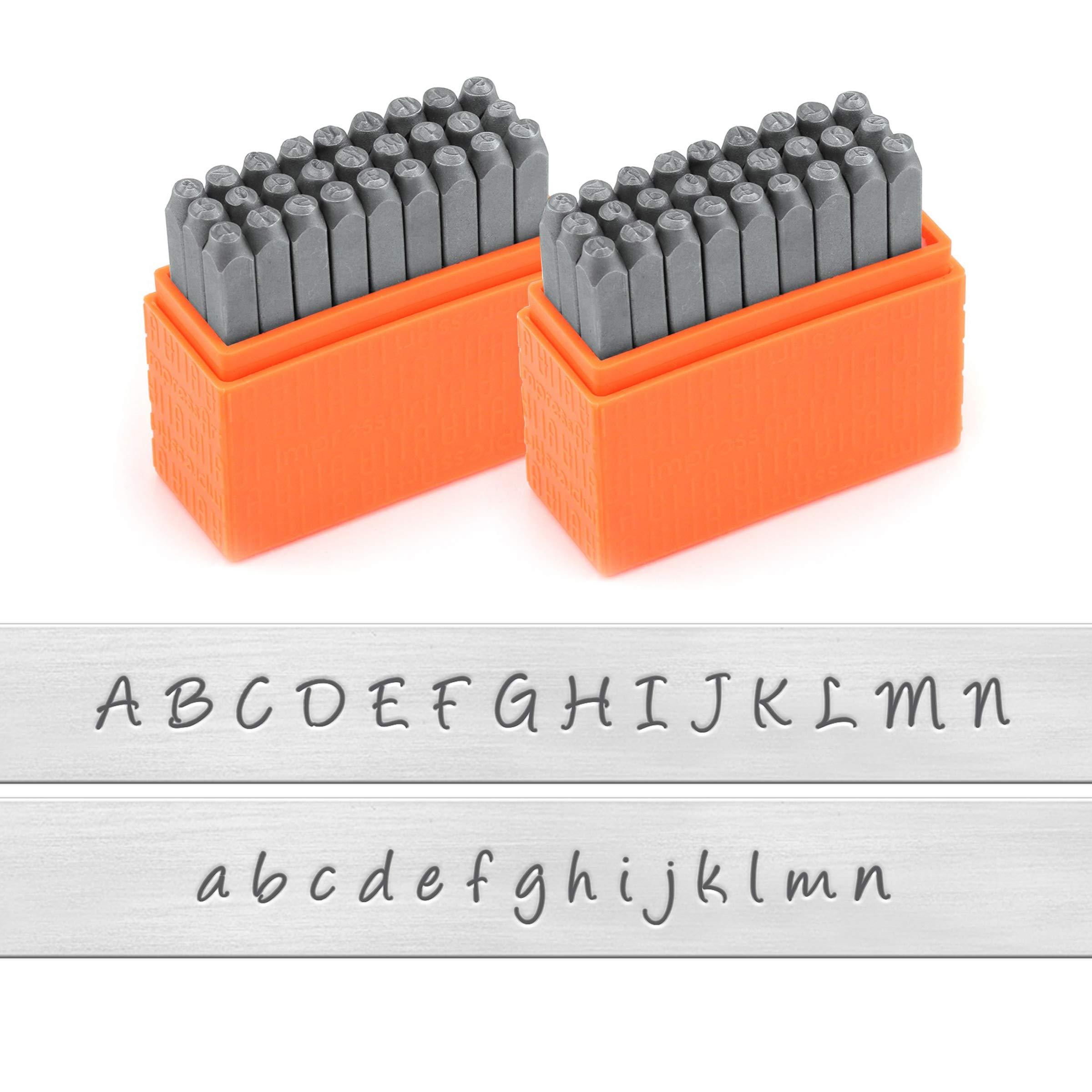 ImpressArt - Basic Bridgette Uppercase and Lowercase Letter Metal Stamps Set, 3MM by ImpressArt