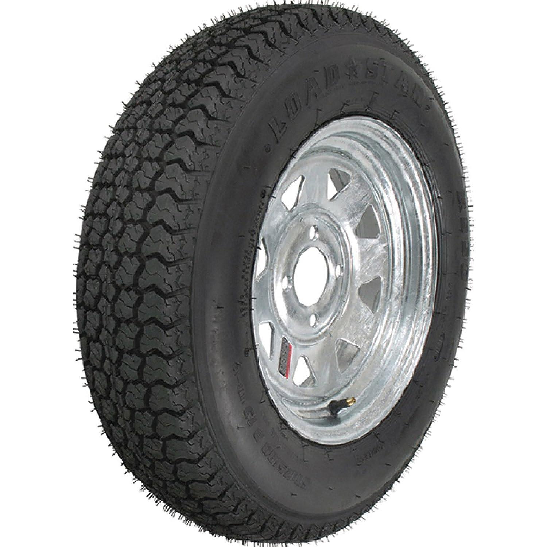 eCustomRim 2-Pk Trailer Tire & Rim ST175/80D13 13 Load C 4 Lug Galvanized Spoke 39357
