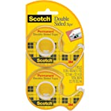 Scotch Double Sided Tape with Dispenser, 1/2 x 400 Inches, 2 Rolls (137DM-2)