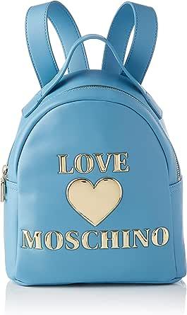 Love Moschino Precollezione Ss21 | Zaino PU Da Donna, Bolsos Tipo Mochila. para Mujer, Negro, M
