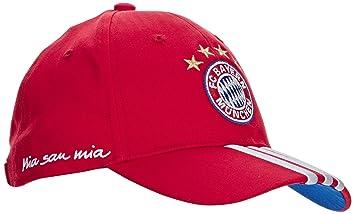7a504a24f1e adidas FC Bayern Munich 3-Stripes Casquette FCB True Red Collegiate Royal  White