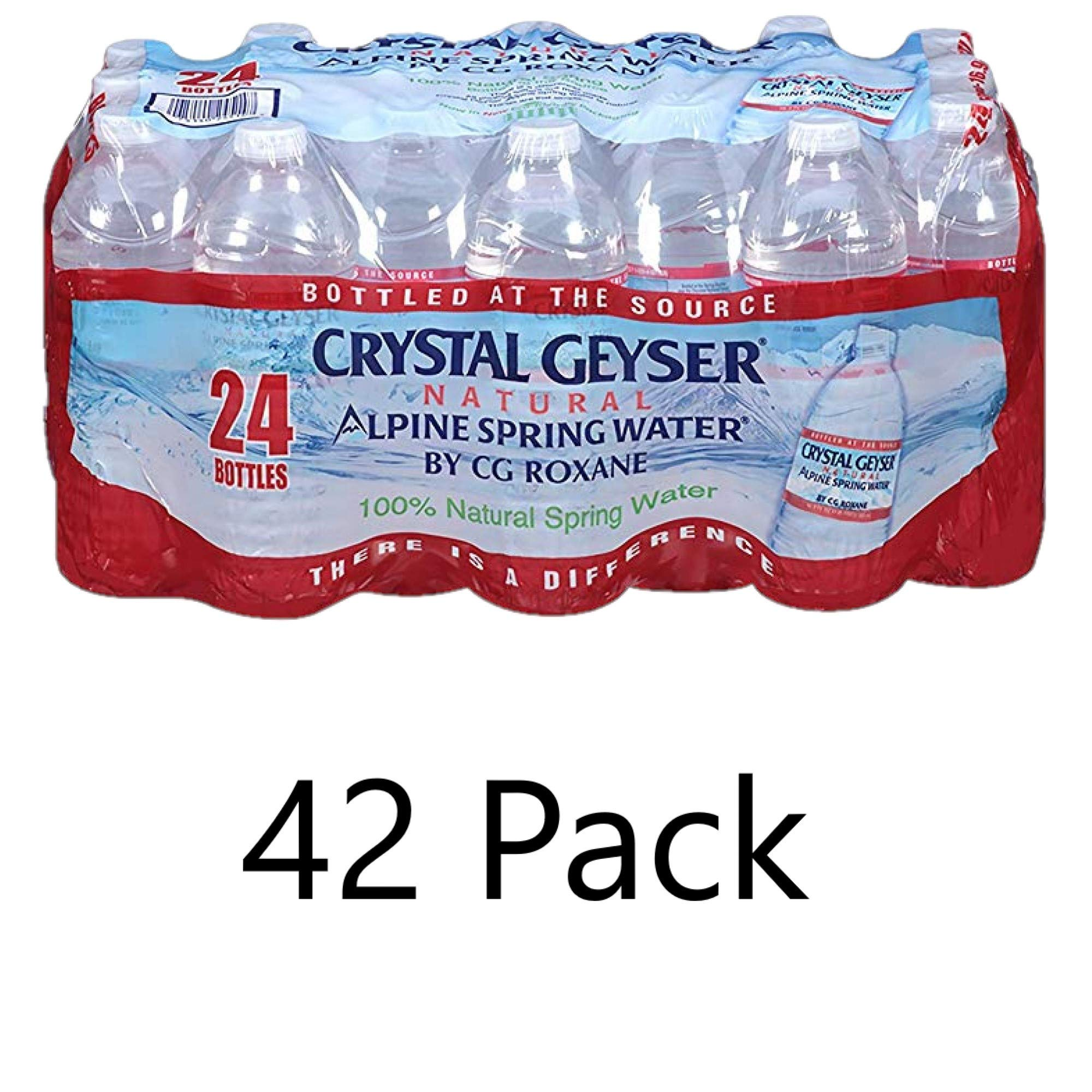 Crystal Geyser Pallet Of 42 Cases, Of Alpine 100% Natural Spring Water, 24 16.9oz bottlesper Case, Bottled at The Source (1008 Bottles)