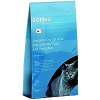 Marque Amazon - Solimo - Croquettes complètes pour chats adultes, au saumon, thon et légumes,  1 Pack de 10kg