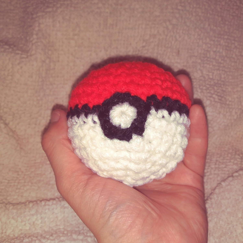 Amazoncom Crochet Pokeball Hacky Sacks Handmade