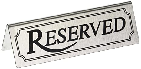 amazon com new star foodservice 26900 reserved table tent sign