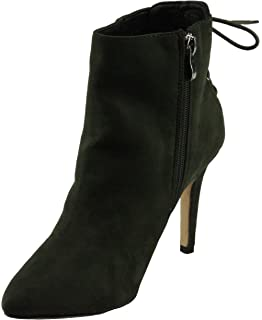 Women's Kendra-1 Faux Suede Pointed-toe Back Lace-up Decor High Heel Ankle Dress Booties
