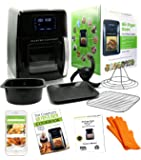 Master Culinary Air Fryer Oven | 12 QT XL Family Size | 7 in 1 Multi Cooker | FDA Approved | Free Mobile App and Recipe Book Included | Rapid Air Technology | Digital Display, Slick Design, Ultra Quiet, 12 Preset Programs, 1700W, 1 Year Warranty | VOTED AS THE BEST IN THE MARKET FOR 2018 | Like Seen On TV
