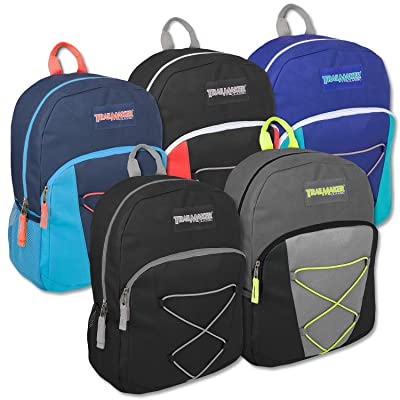 Classic 17 Inch Bungee Backpack - 5 Colors Case Pack 24
