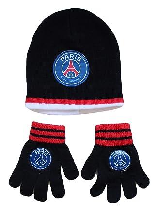 aae46e91f39 Bonnet enfant PSG gant paris saint germain Neymar Article sous licence  officielle ...