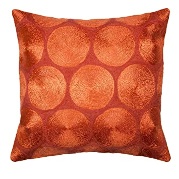 Madura Housse de Coussin AUREA Orange Brique 40 x 40 cm: Amazon.fr