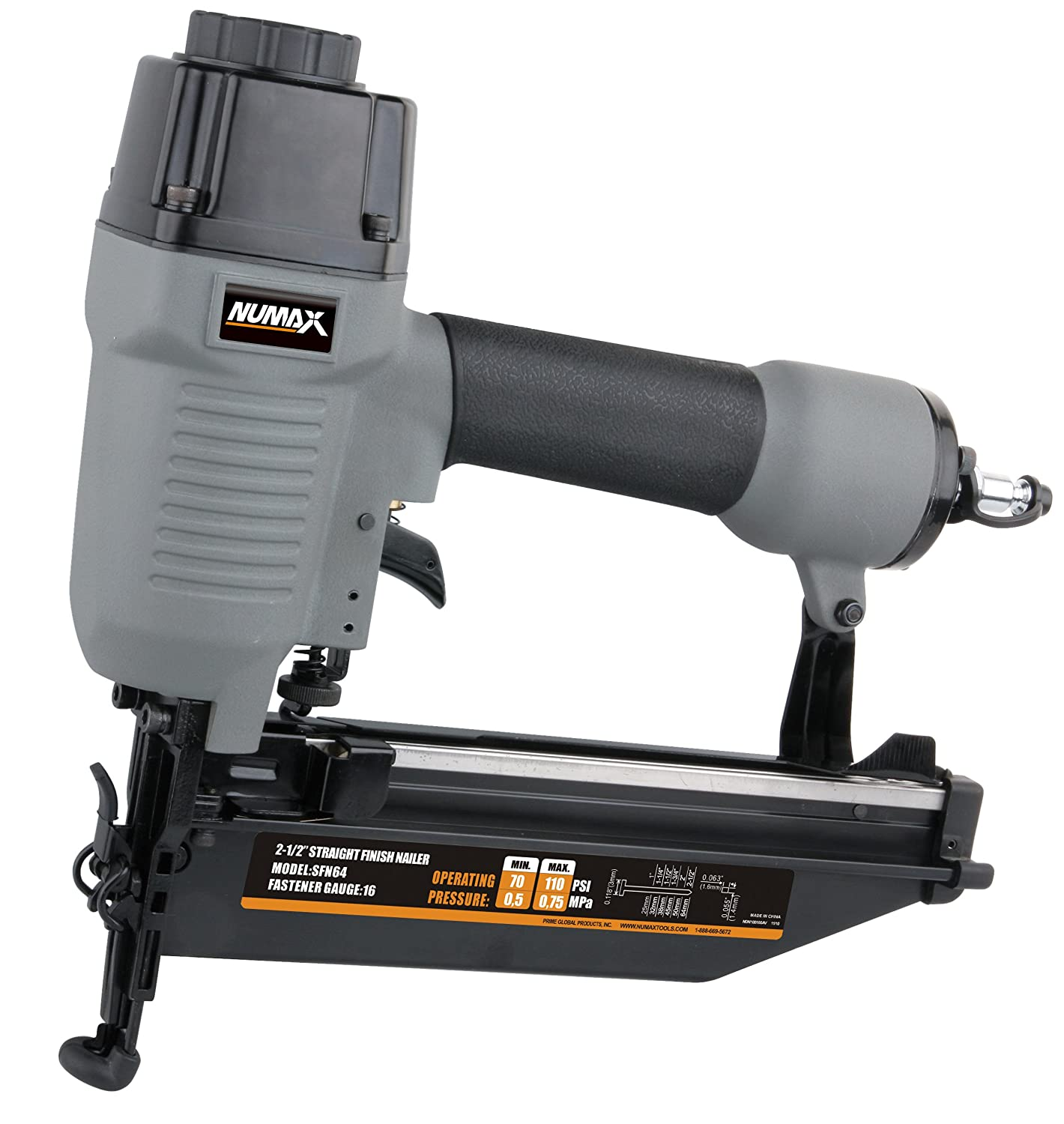NuMax SFN64 Straight Finish Nailer 16 Gauge revirew