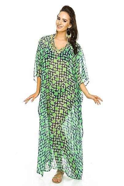 aa1de940ad Laides Full Length Kimono Maxi Summer Oversized Tunic Kaftan Throw Dress at  Amazon Women's Clothing store: