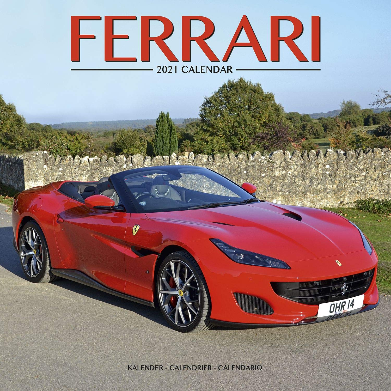 Ferrari Calendar  Calendars 2020   2021 Wall Calendars   Car