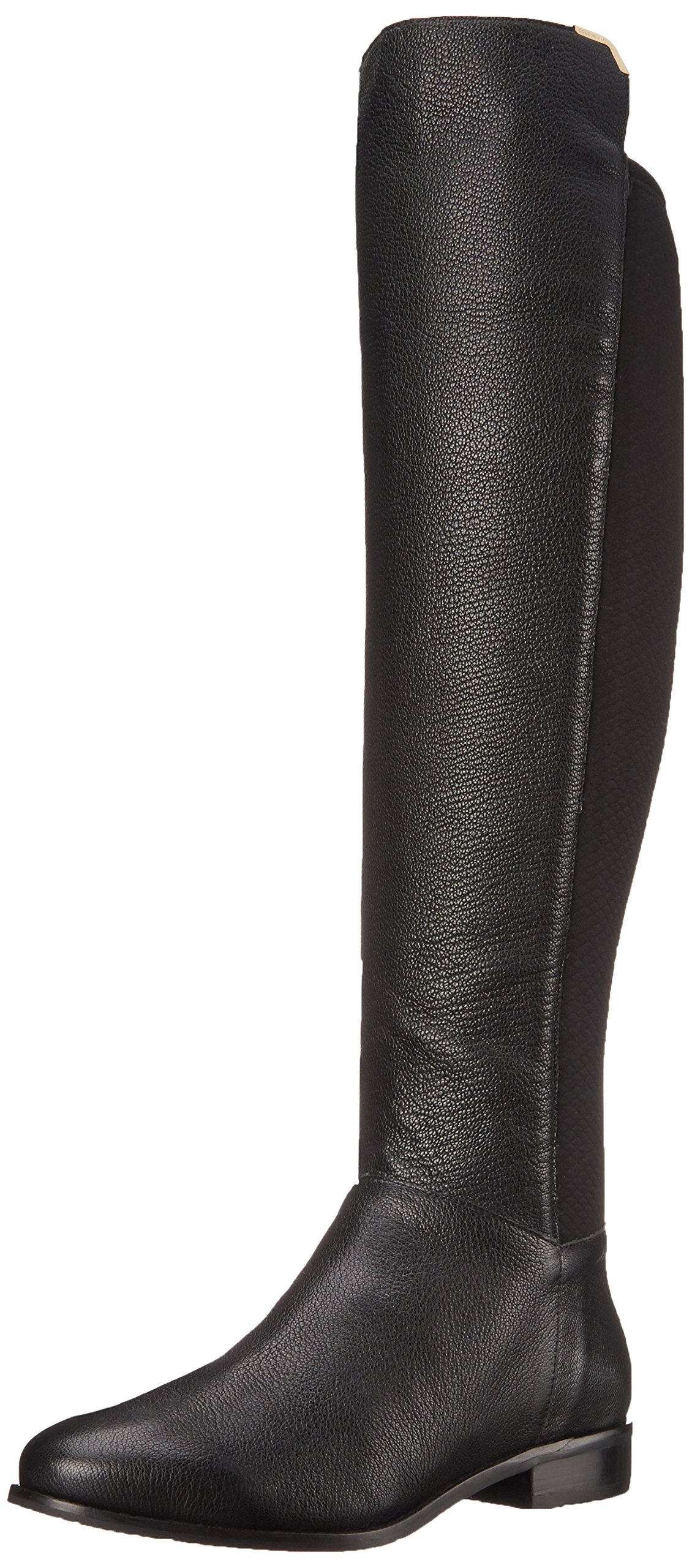 Cole Haan Women's Dutchess OTK Motorcycle Boot, Black Leather, 9.5 B US
