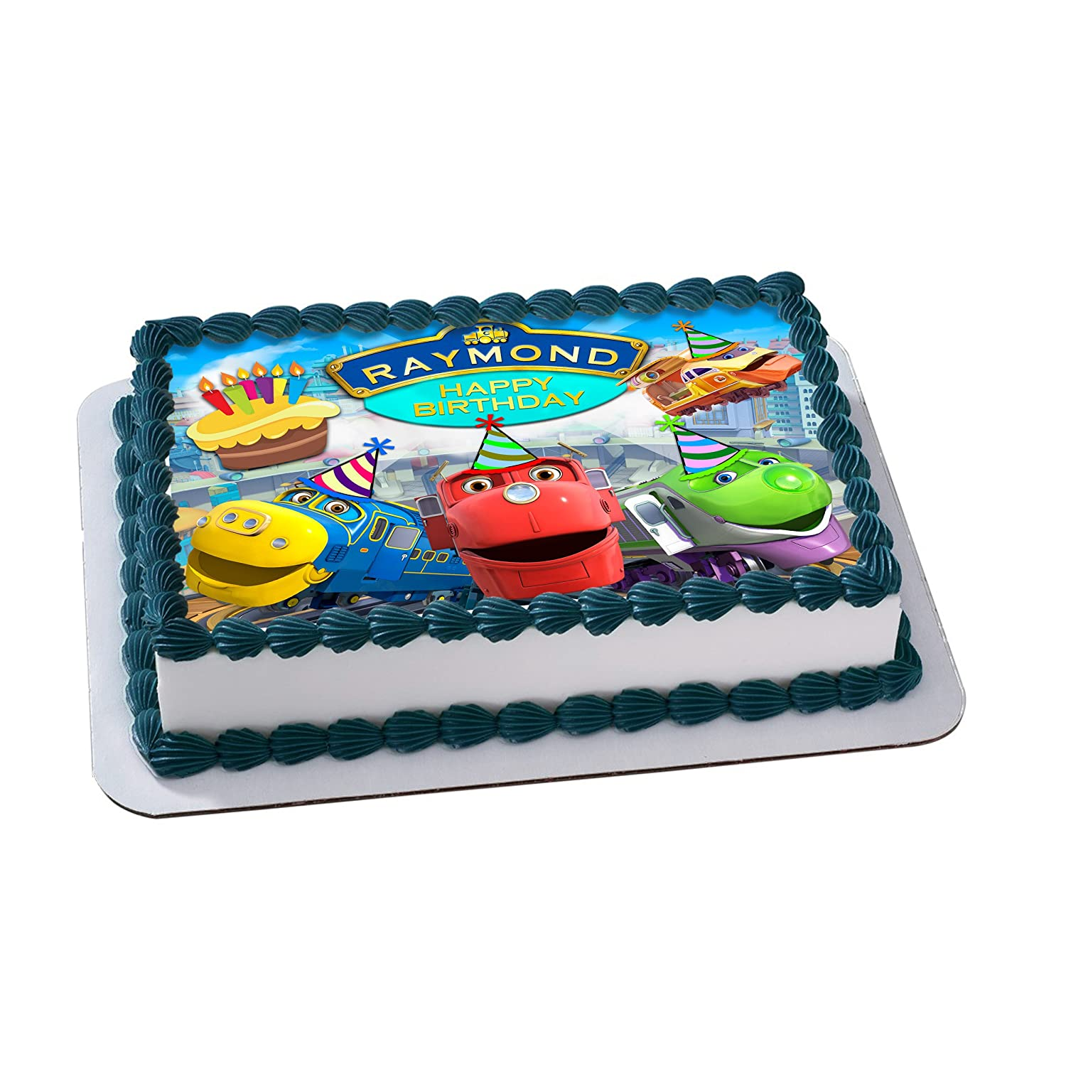 Chuggington Edible Cake Image Personalized Toppers Icing Sugar Paper