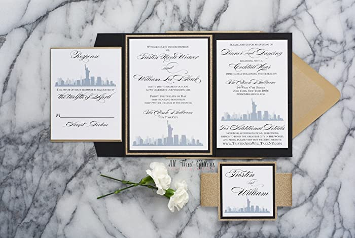 Amazon.com: Custom New York City Themed Wedding Invitation, NYC