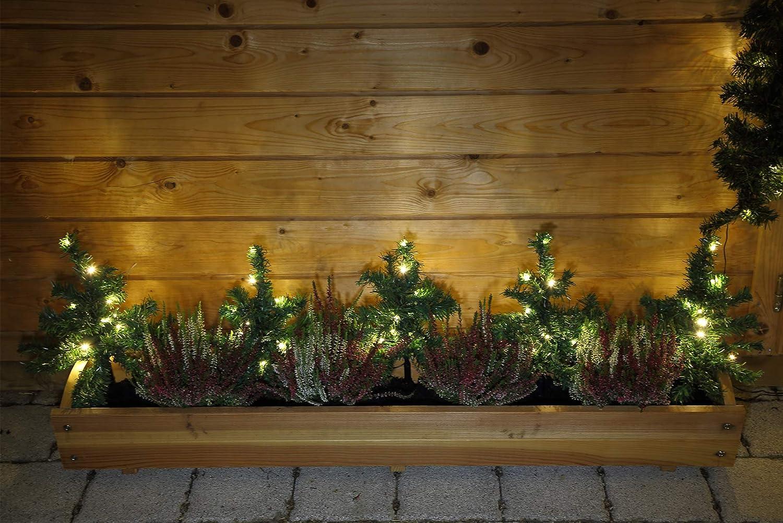 5x mini abeti natalizi con illuminazione a led decorazione da