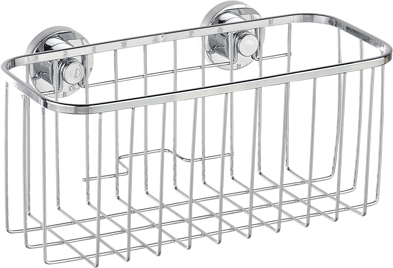 Wenko Power-Loc Cesta Universal, Acero Inoxidable, Plata Brillante, 11.5x22.5x11 cm