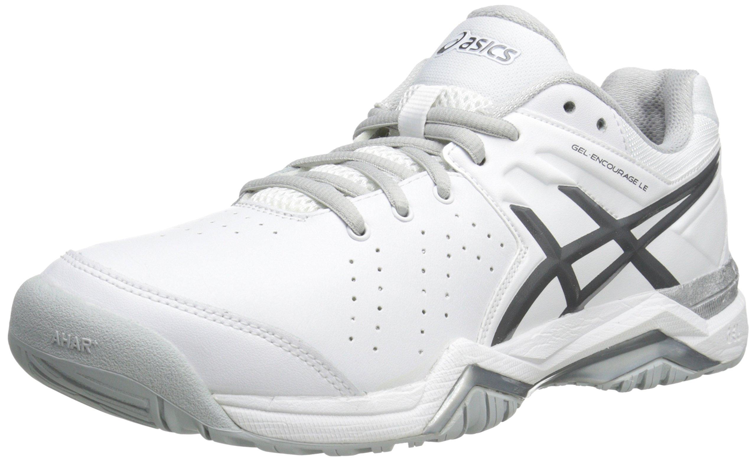 ASICS Women's Gel-Encourage Le Tennis Shoe,White/Silver,9 M US