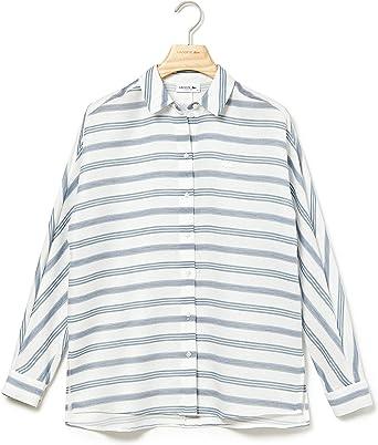 Lacoste - Camisa Punto Manga Larga Mujer - Cf8404: Amazon.es: Ropa y accesorios
