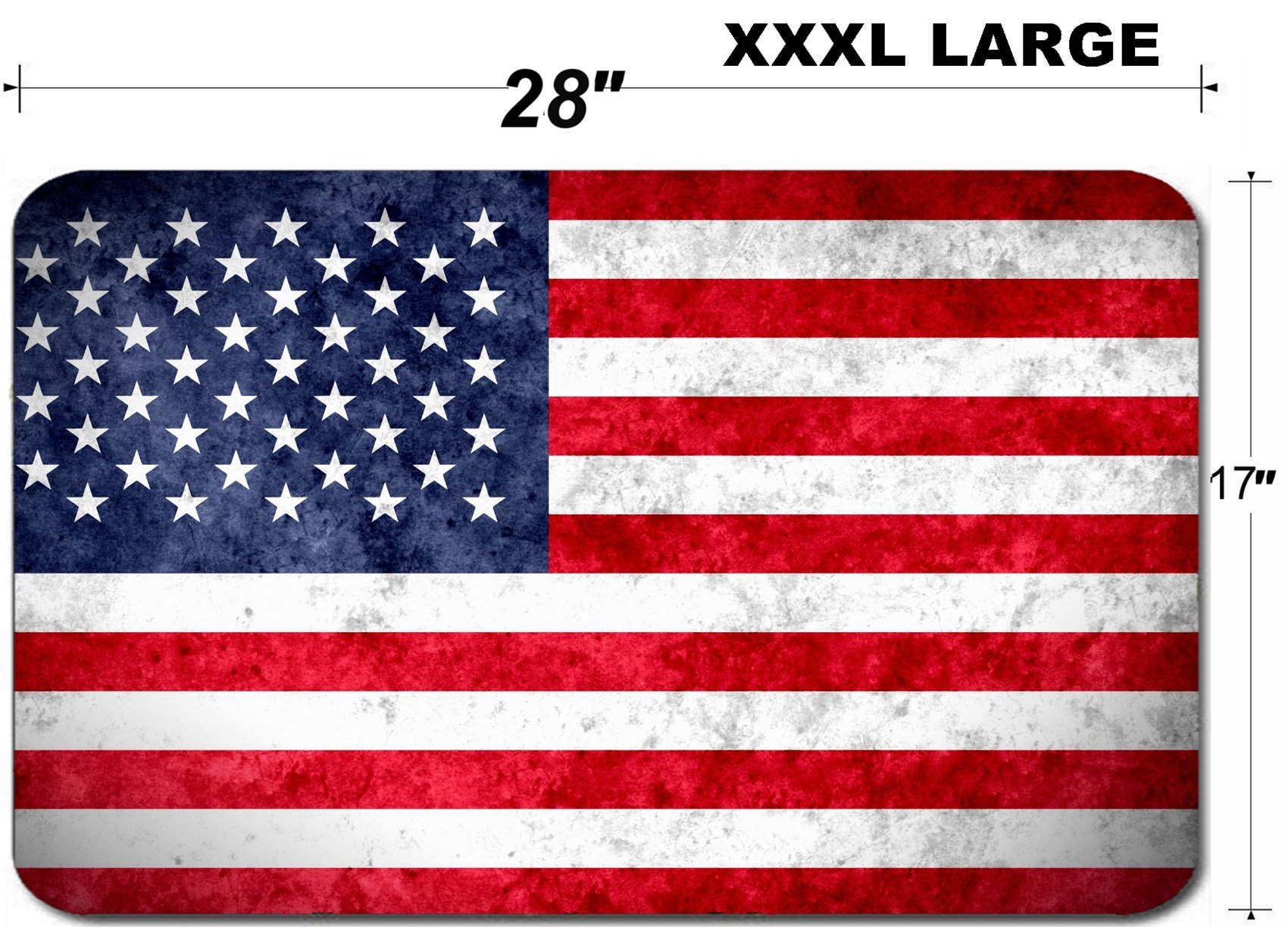 Luxlady Large Table Mat Non-Slip Natural Rubber Desk Pads IMAGE ID 31068281 Aged textured and colorful flag of United Stated of America