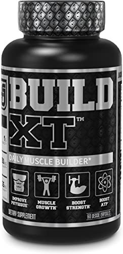 Build-XT Muscle Builder – Daily Muscle Building Supplement for Muscle Growth and Strength Featuring Powerful Ingredients Peak02 elevATP – 60 Veggie Pills