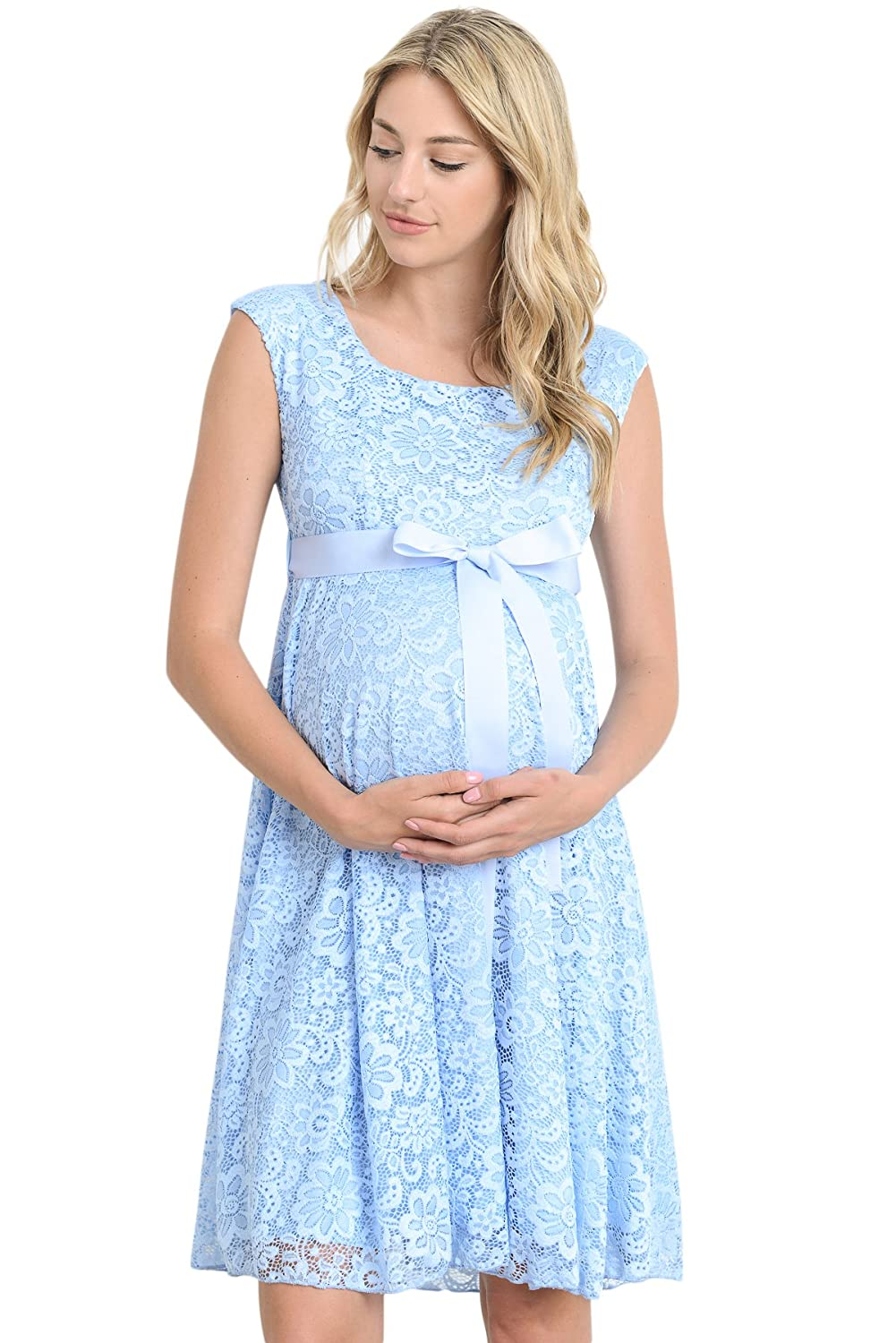 Hello MIZ Maternity Floral Lace Baby Shower Party Cocktail Dress ...