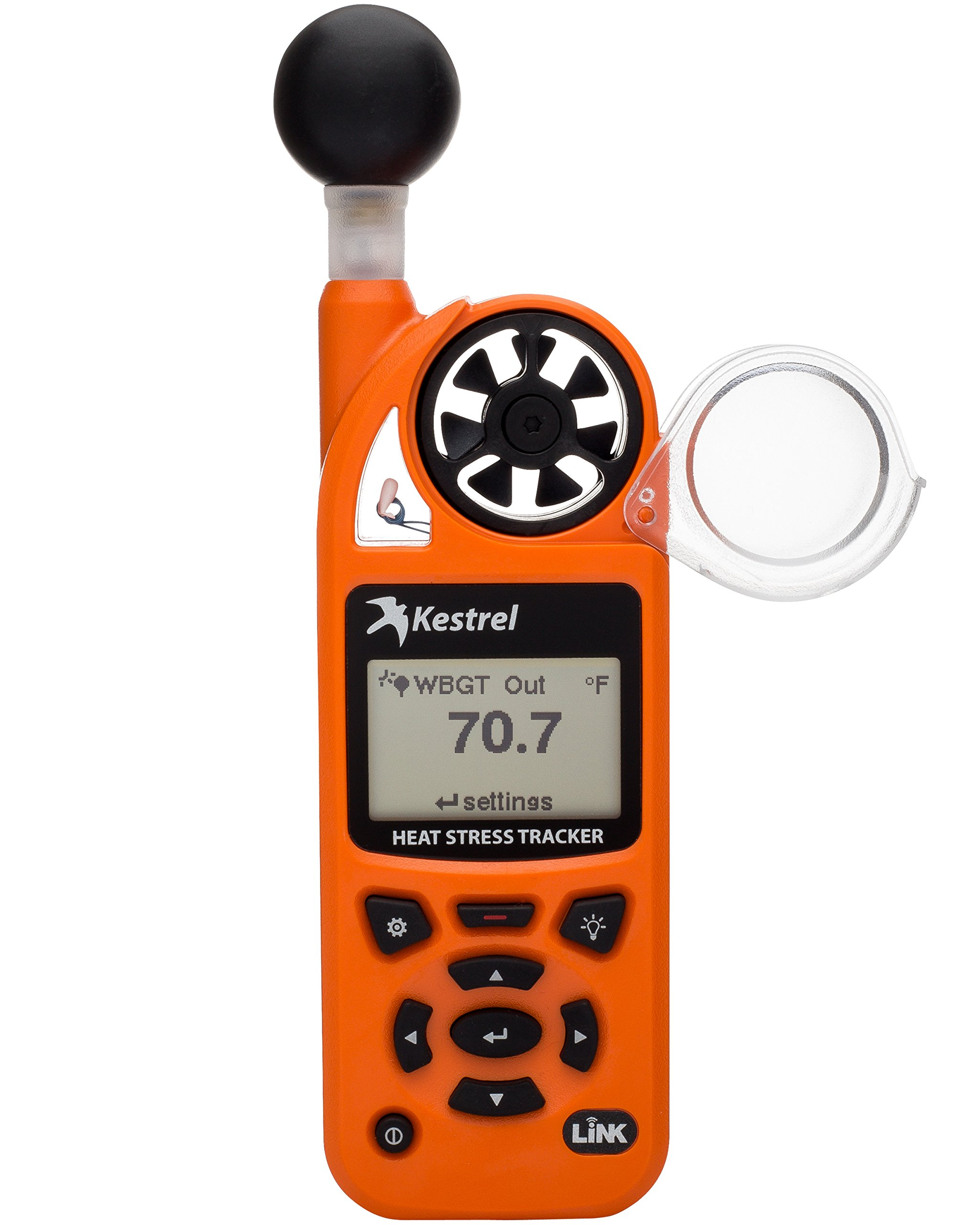 Kestrel 5400 Heat Stress Tracker Pro with Link, Compass and Vane Mount, Orange by Kestrel