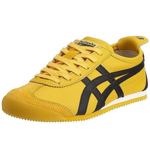 Onistuka Tiger Mexico 66, Unisex Adults Training Running Shoes, Black  (0490-Yellow