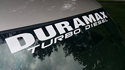 """Duramax Front Windshield Banner Decal Fits Chevy Trucks  4/"""" x 40/"""""""