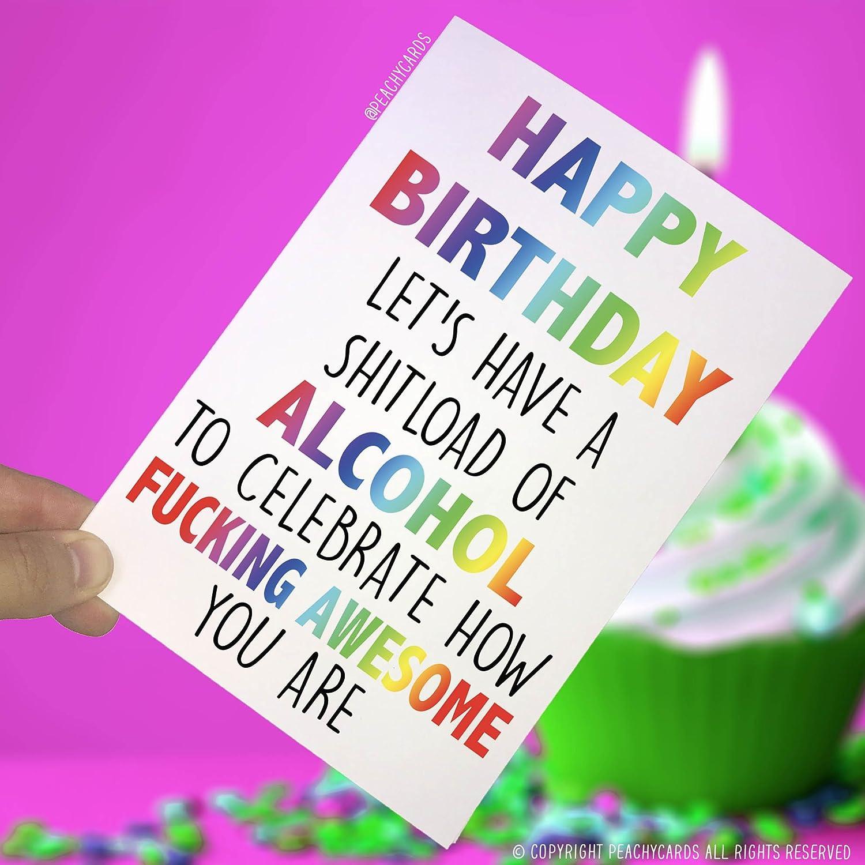Peachy Amazon Com Happy Birthday Cards Happy Birthday Alcohol Personalised Birthday Cards Xaembasilily Jamesorg