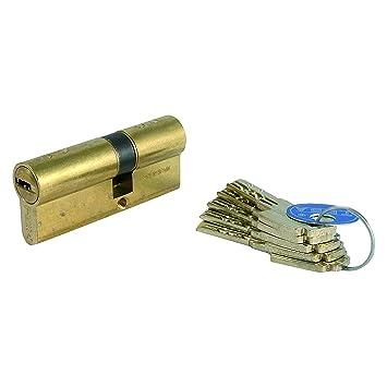Tesa Assa Abloy, T8553535L, Cilindro de seguridad T80, Leva larga, 35x35mm, Latonado: Amazon.es: Bricolaje y herramientas