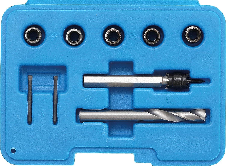 10-tlg Cobalt HSS BGS 1632 Schweisspunkt-Bohrfräser-Set
