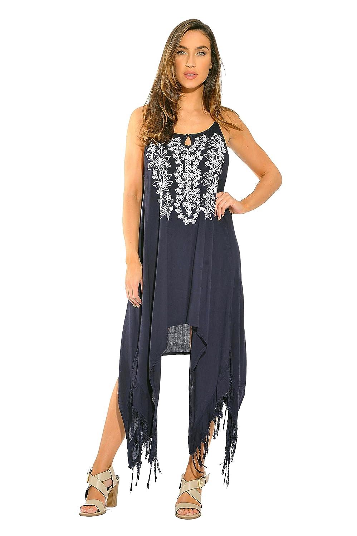 5a49e0acb78 Riviera Sun Fringe Dress Sundresses for Women at Amazon Women s Clothing  store