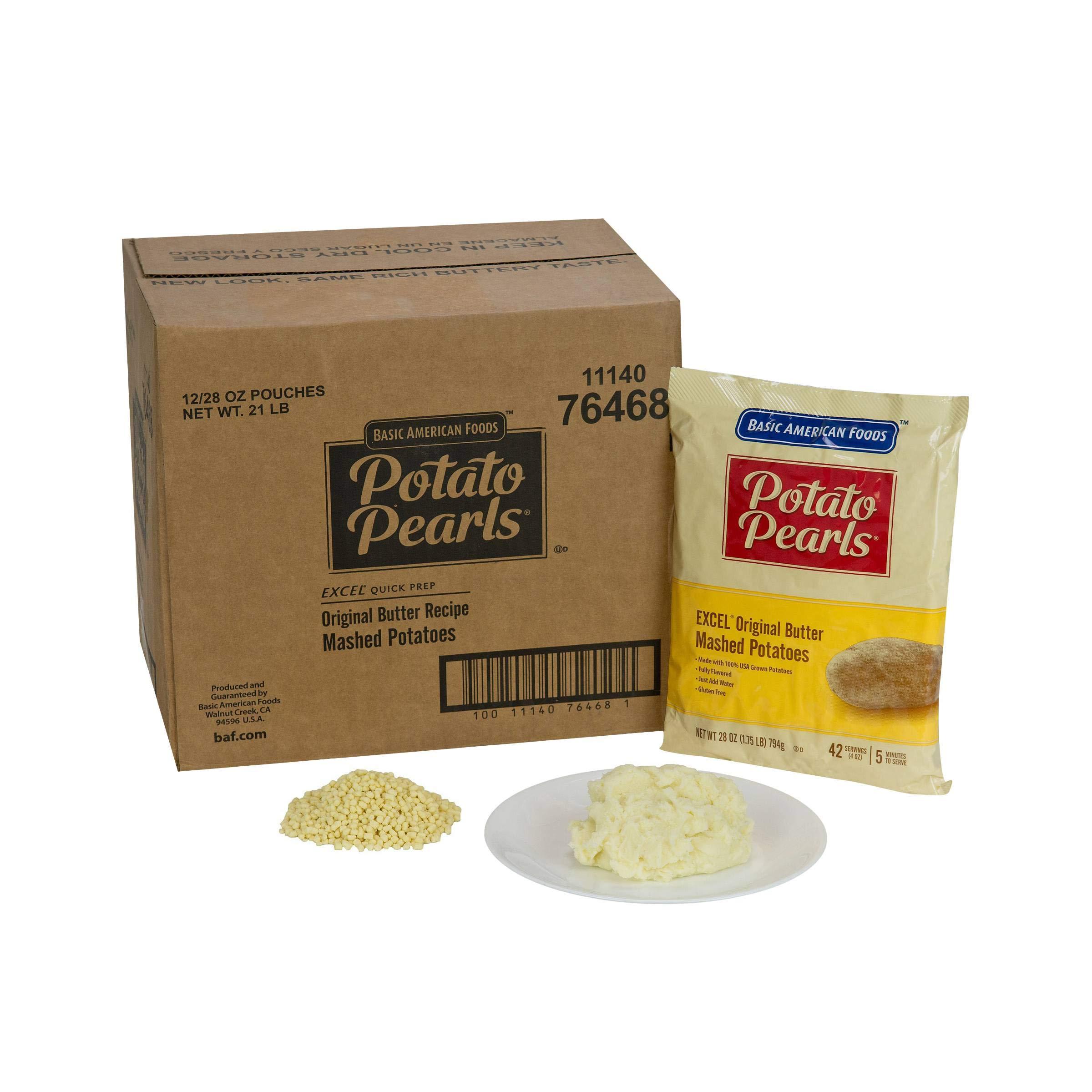 Excel Potato Pearls - 28 oz. pouch, 12 pouches per case