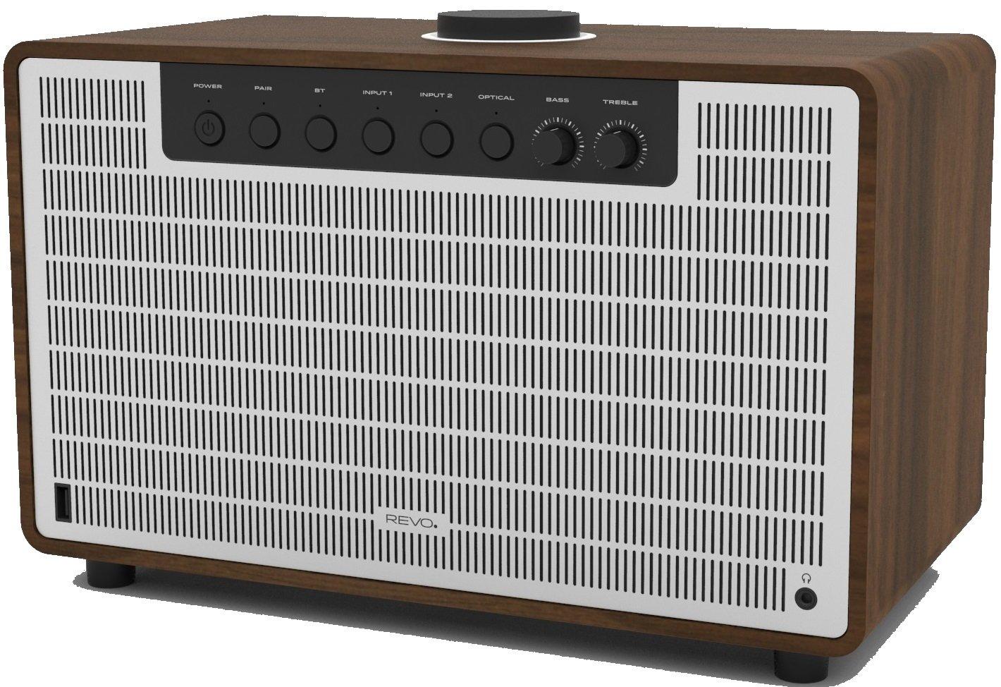 Revo 641192Super Tone Bluetooth 4.2Altavoz, 80W Nogal Plata