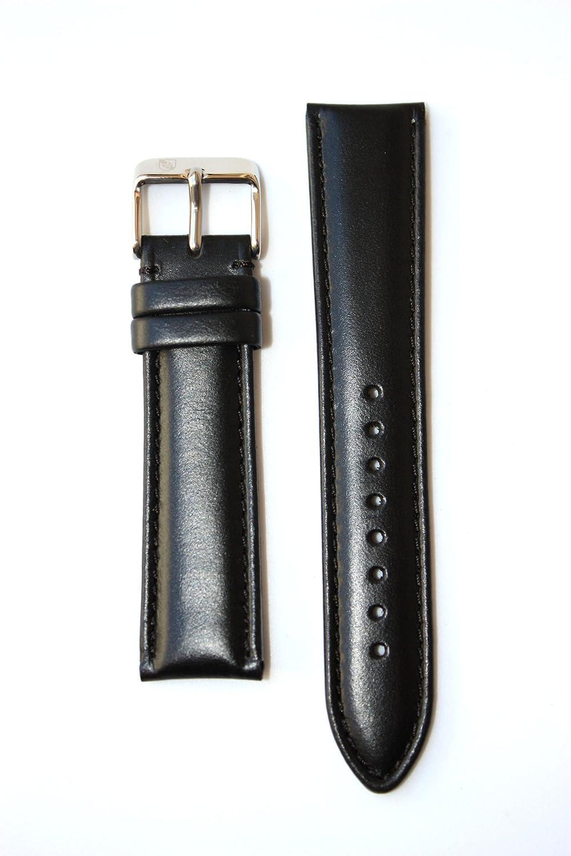 18 mmブラックoil-tannedイタリアレザーバンド  B006ACRQO0