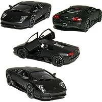 5 Die-cast Metal Primer Black Lamborghini Murcielago LP640 (Race Version)1/36 Scale, Pull Back n Go Action. by Small Car