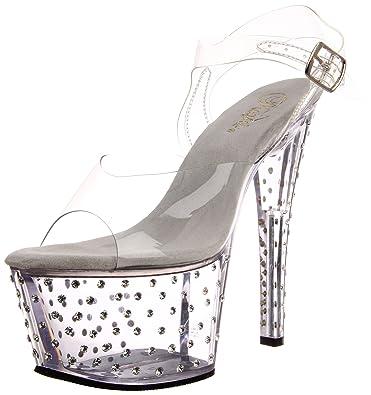 Pleaser Women's Stardust 708 Heels Sandals Brand New Unisex Online Buy Cheap Discounts Marketable Sale Free Shipping ntWWp8