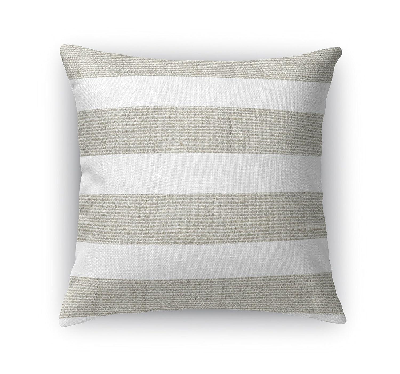 TELAVC8116DI18 KAVKA Designs Centerville Accent Pillow, Tan//White Size: 18X18X6 - -