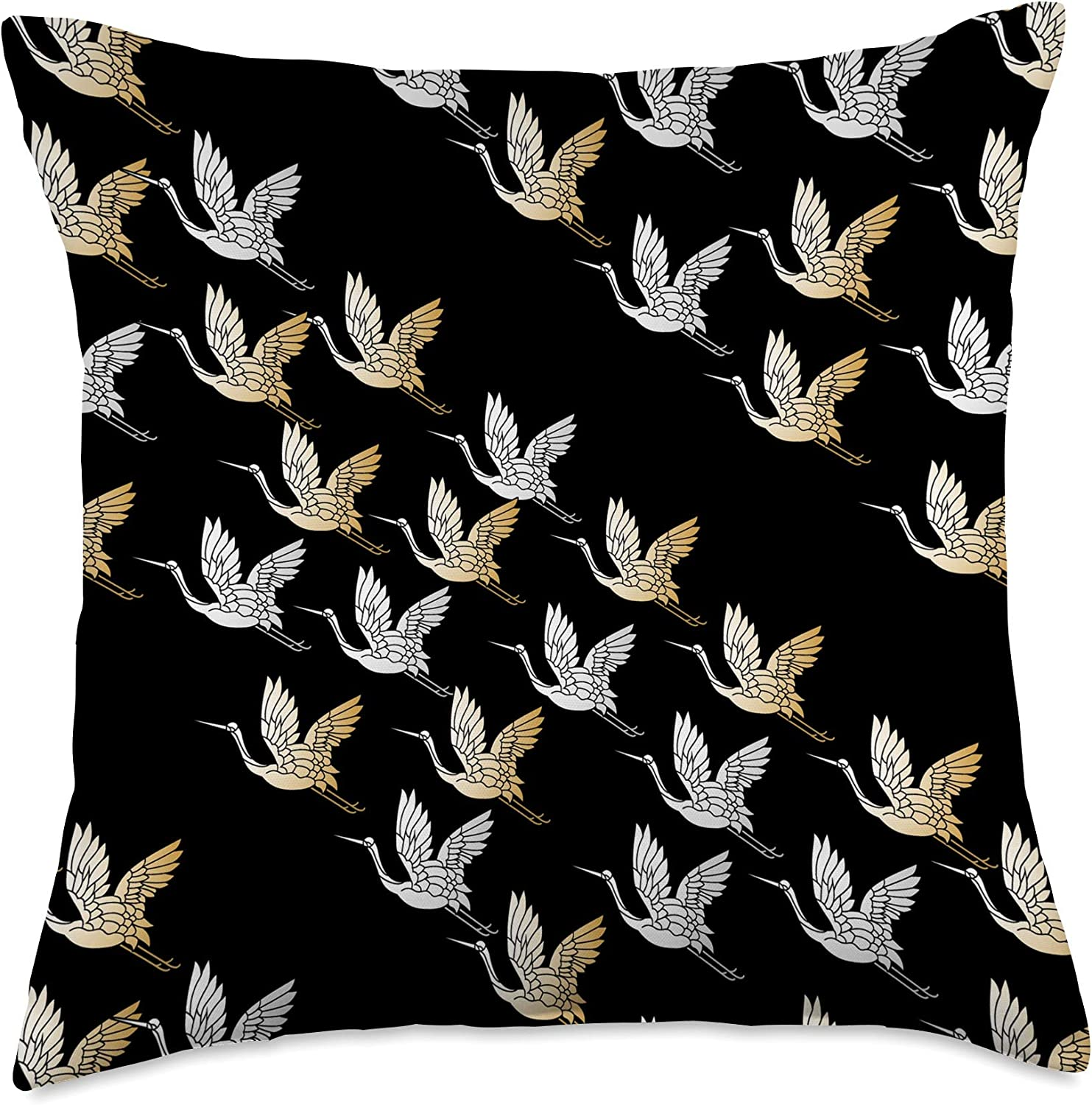 Decoratives Living Room & Couches Co. Storks Home Decorative Modern Birds Design Bedroom Couch Throw Pillow, 18x18, Multicolor