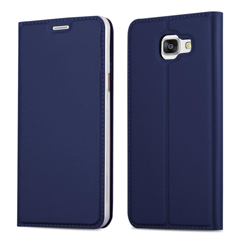 Cadorabo Coque pour Samsung Galaxy A5 2016 en Classy Bleu FONCÉ – Housse Protection avec Fermoire Magnétique, Stand Horizontal et Fente Carte – Portefeuille Etui Poche Folio Case Cover DE-112980