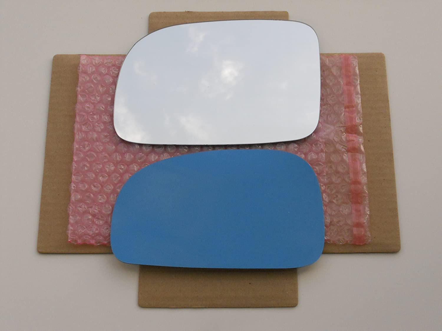 New Replacement Mirror Glass with FULL SIZE ADHESIVE for 2007-2012 HYUNDAI SANTA FE Driver Side View Left LH