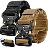 QINGYUN Tactical Belts for Men,Military Style Belt,1.5' Nylon Riggers Belts for Men,Heavy-Duty Quick-Release Metal…