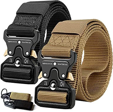 US Men Outdoor Tactical Rigger/'s Belt Military Training Heavy Duty Nylon Cool