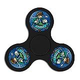 (Black)Tri-Hands Fidget Spinner Toy Habdspinner
