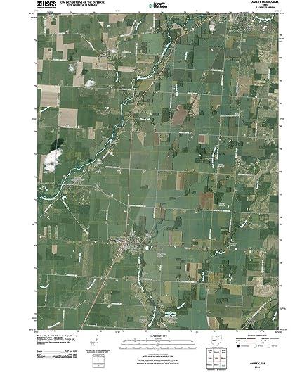 Ashley Ohio Map.Amazon Com Ohio Maps 2010 Ashley Oh Usgs Historical Topographic